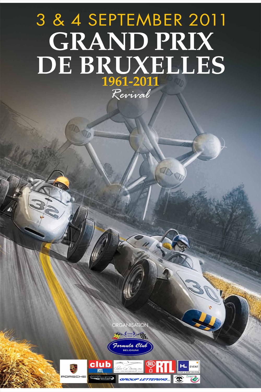 grand prix de bruxelles 1961 2011 classic car passion. Black Bedroom Furniture Sets. Home Design Ideas