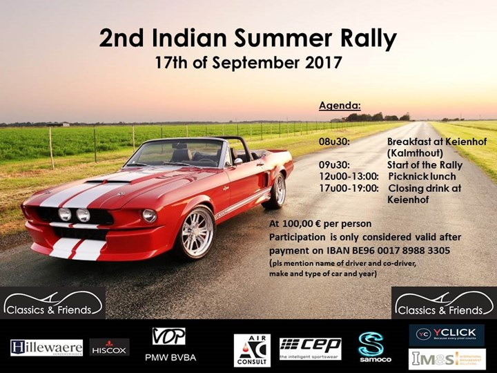 2nd Indian Summer Rally - Classics & Friends (Kalmthout)