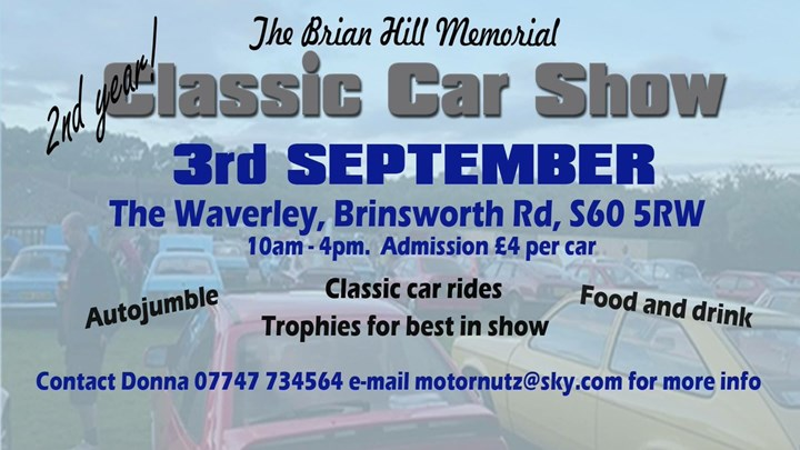Brian Hill Memorial, Classic Car Show and Autojumble
