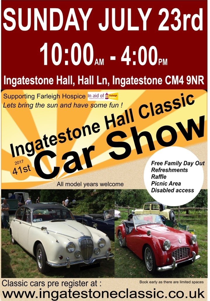 The 41st Ingatestone Hall Classic Car show
