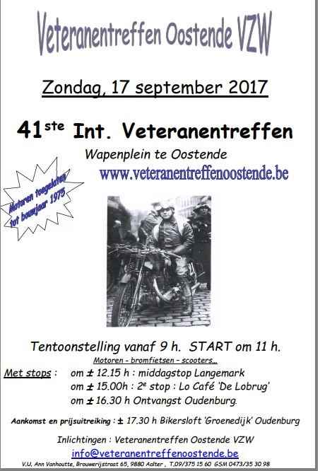 41st International Veteran Strikes (Motorcycles, Mopeds, Scooters for 1975) (Ostend)