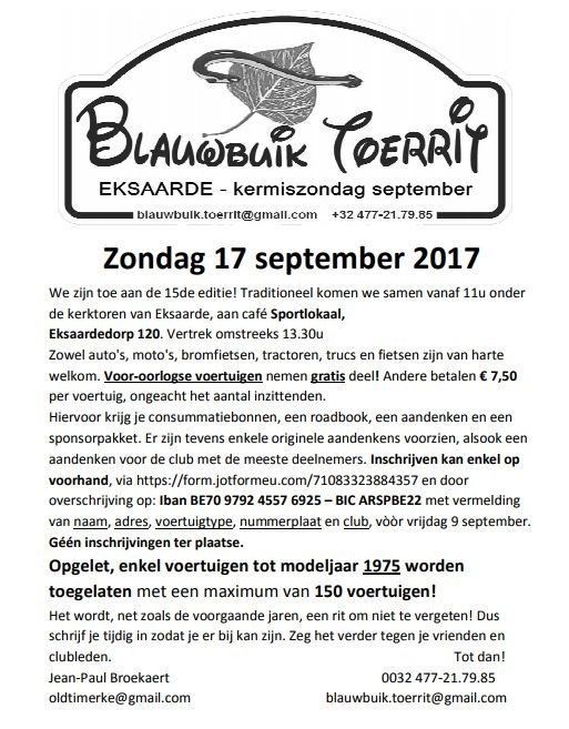 15th Blauwbuik Tourrit (Exaarde)
