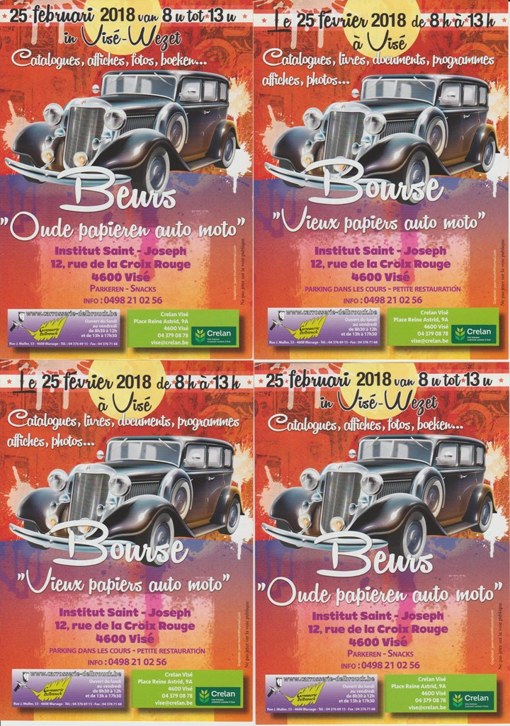 "Oldtimer Documentation Fair - Bourse ""vieux papiers auto moto"" (Visé)"