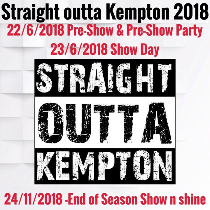 Straight outta Kempton 2018 Official (pre-show & show)