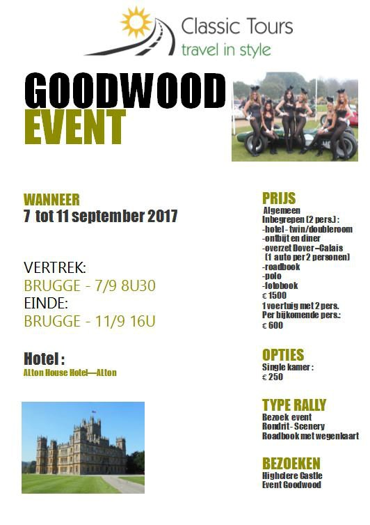 Drive to Goodwood Event (Bruges)