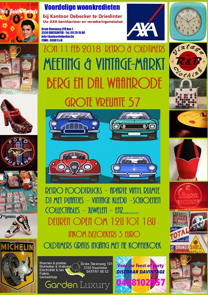 Retro & Oldtimers - Winter edition - Meeting and retromarket (Waanrode)