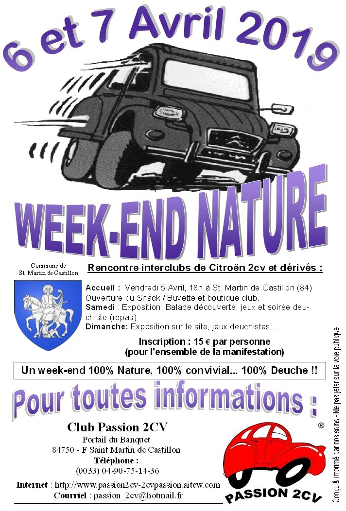 Week-end Nature 2019