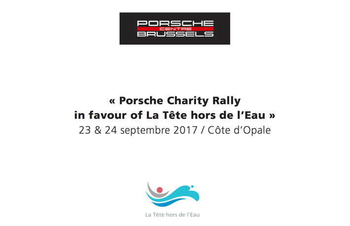 Porsche Charity Rally in favor of La Tête Hors de l'Eau