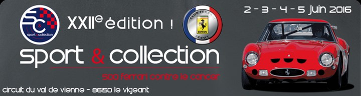 22e Edition Sport et Collection 500 Ferrari contre le Cancer