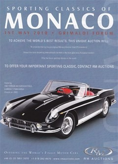 FRANCE - RM Auctions : Sporting Classics Of Monaco
