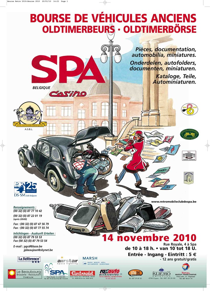 Bourse du Rétromobile Club de Spa au Casino